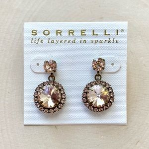 NWT Anthro Sorrelli Adorned Crystal Drop Earrings